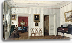 Постер Школа: Русская 19в. The small hall with the piano