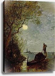 Постер Moonlit Scene with Gondola