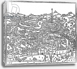 Постер Форести Джакомо View of Rome, from 'Supplementum chronicarum', edition published in 1490