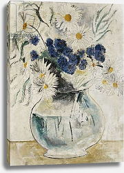 Постер Вуд Кристофер Daisies and Cornflowers in a Glass Bowl, 1927