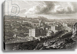Постер Бэтти View from Calton Hill, Edinburgh, from 'Select Views of the Principal Cities of Europe