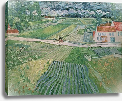 Постер Ван Гог Винсент (Vincent Van Gogh) Landscape at Auvers after the Rain, 1890