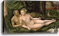 Постер Альтдорфер Альтбрехт Lot and his daughter, 1537,