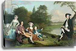 Постер Девис Артур A family of Anglers, 1749
