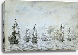 Постер Велде Виллем Старший The naval battle against the Spaniards near Dunkerque