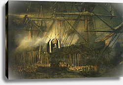 Постер Изабе Луи The Shipment of Napoleon's Ashes Aboard the 'Belle-Poule' at Saint Helena, 15th October 1840, 1842