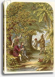 Постер Лидон Александр Robinson Crusoe surprising the three Englishmen