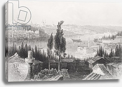 Постер Бартлет Уильям (последователи, грав) The Arsenal from the Pera, Turkey, from 'Gallery of Historical Portraits', published c.1880
