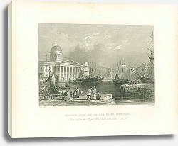 Постер Canning Dock and Custon House, Liverpool