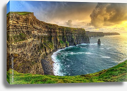 Постер Ирландия. Cliffs of Moher at sunset, Co. Clare, Ireland
