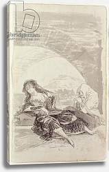 Постер Гойя Франсиско (Francisco de Goya) Maja and Celestina under an arch
