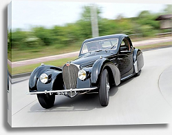 Постер Bugatti Type 57S Coupe by Gangloff of Colmar '1937