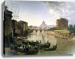 Постер Щедрин Сильвестр New Rome with the Castel Sant'Angelo, 1825 (oil on canvas
