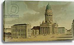 Постер Фешхельм Карл Ф. View of the Gendarmenmarkt with the French playhouse and cathedral, Berlin, 1788