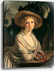 Постер Прюдон Пьер Portrait of a Young Woman