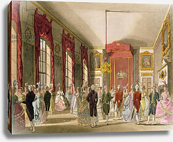 Постер Роуландсон Томас Drawing Room, St. James's, from Ackermann's 'Microcosm of London'