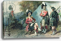 Постер Лами Евген Officers of the 79th Highlanders at Chobham Camp in 1853