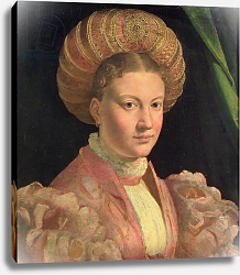 Постер Пармиджанино Portrait of a young woman, possibly Countess Gozzadini, c.1530
