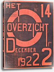 Постер Бельгийская школа 20в Cover for the December 1922 issue of the magazine 'Het Overzicht', 1922