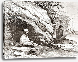 Постер Школа: Испанская 19в. Jules Crevaux, during his exploration of French Guiana in 1878