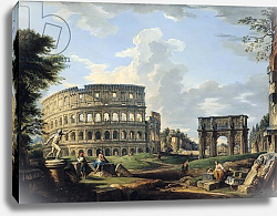 Постер Панини Джованни Паоло The Colosseum and the Arch of Constantine