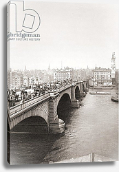 Постер London Bridge, London, England 1902