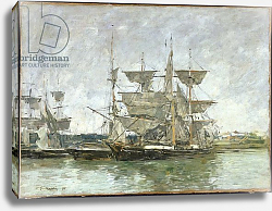 Постер Буден Эжен (Eugene Boudin) Boats in the Port, Deauville, 1881