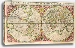 Постер Меркатор Герар Double Hemisphere World Map, 1587