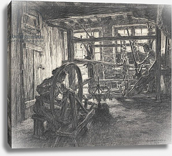 Постер Лермит Леон The Weaver's Workshop at Dinan or, The Weaver and his Wife, 1893