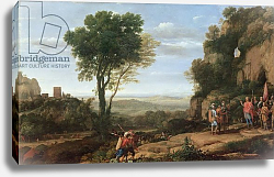 Постер Лоррен Клод (Claude Lorrain) Landscape with David at the Cave of Abdullam, 1658