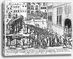 Постер Школа: Фламандская 16в. Scenes of the Spanish Inquisition at Ghent, June 1578