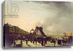 Постер Школа: Русская 19в. The rollercoasters on the Neva in St. Petersburg, 1803