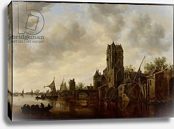 Постер Гойен Ян River Landscape with the Pellecussen Gate near Utrecht, 1648