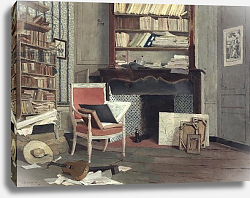 Постер Казин Жан-Чарльз Interior of the Study of Doctor X