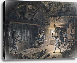 Постер Хауель Жан View of a cell in the Bastille at the moment of releasing prisoners on 14th July, 1789