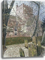 Постер Парсонос Хью (совр) Brecon Cathedral, Autumn Day, 1992