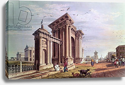 Постер Фрейзер Джеймс (акв) Court House Street, Calcutta, engraved by Robert Havell, pub. 1824
