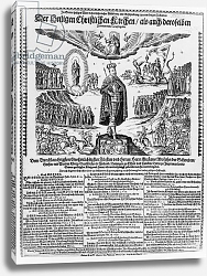 Постер Школа: Немецкая A German broadsheet depicting Gustavus Adolphus as the Champion of the Protestant Cause