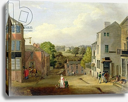 Постер Берд Джон Street Scene in Chorley, Lancashire, with a View of Chorley Hall, c.1790-1817