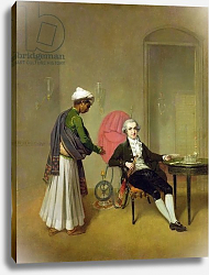 Постер Девис Артур A Gentleman, possibly William Hickey, and his Indian Servant, c.1785