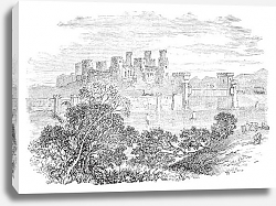 Постер Aberconway Castle, now known as Conway Castle, in the North coast of Wales.