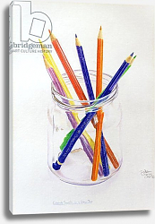 Постер Берн Алан (совр) Coloured Pencils in a Jar, 1980