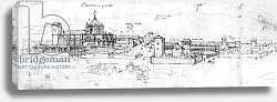 Постер Школа: Испанская Sketch of the cityscape of Granada
