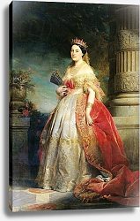 Постер Дюбуфе Эдуард Mathilde Laetitia Wilhelmine Bonaparte 1861