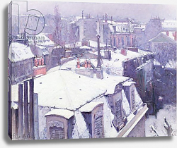 Постер Кайботт Гюстав (Gustave Caillebotte) View of Roofs or Roofs under Snow, 1878