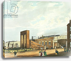 Постер Бьюри Томас Entrance into Manchester Across Water Street, engraved by Henry Pyall, 1831