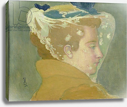 Постер Денис Морис Portrait of Marthe with a White Veil, 1894
