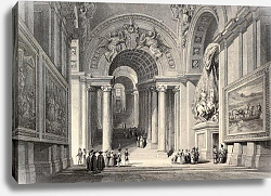 Постер Royal Staircase in Vatican City. Original, created by W. L. Leitch and E. Challis, published in, Ita