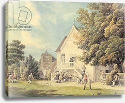 Постер Рукер Майкл A Game of Bowls on the Bowling Green outside the Bunch of Grapes Inn, Hurst, Berkshire