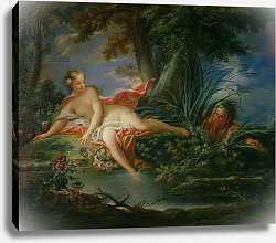 Постер Буше Франсуа (Francois Boucher) The Bather Surprised